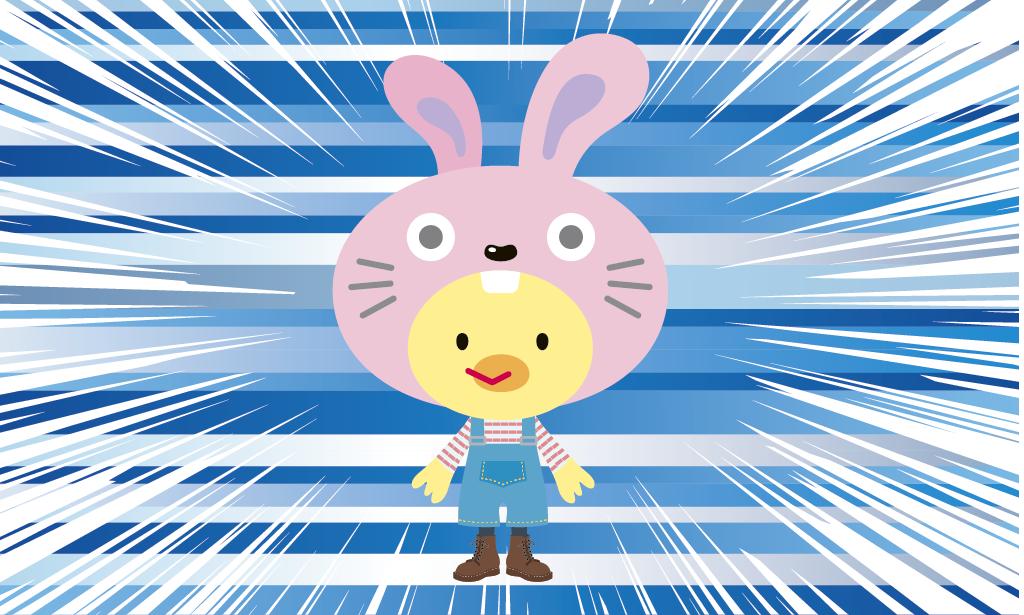ウサギとアヒルのキャラクター開発 Soubi